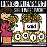 Sunflower Sight Word Packet