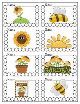 Sunflower Themed Punch Cards