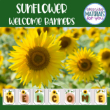 Sunflower Welcome Banners