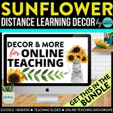 Sunflower and Burlap Theme | Online Teaching Backdrop | Go