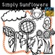 Sunflower and Crow Clip Art for Fall by Kid-E-Clips Commercial and Personal