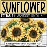 Sunflower and Shiplap Farmhouse Style Classroom Decor Bundle