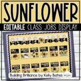 Sunflower and Shiplap Farmhouse Style Classroom Jobs Displ
