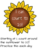 Sunflower counting 1-20
