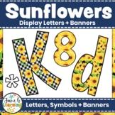 Sunflower Bulletin Board Letters & Editable Banners   Printable Classroom Decor