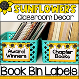 Sunflowers Classroom Decor - Book Bin/Basket Labels