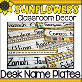 Sunflowers Classroom Decor - Desk Plates