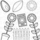 Sunflowers Clip Art (Digital Use Ok!)