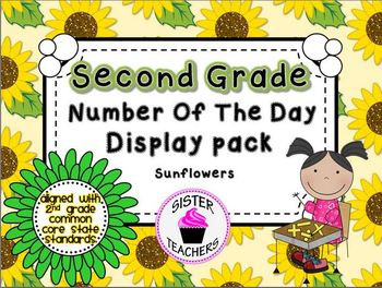 Sunflowers Common Core Number of the Day Display Pack-2nd grade