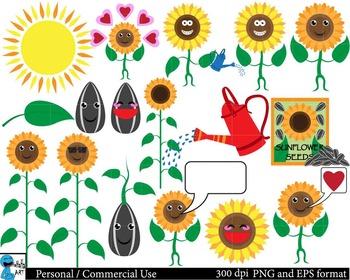 Sunflowers Digital Clip Art Graphics 31 images cod35