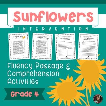 Sunflowers Fluency Passage & Comprehension Questions {Grade 4}