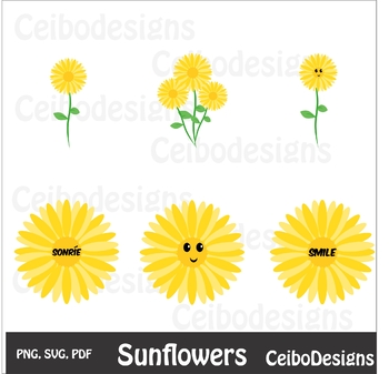 picture relating to Printable Sunflower titled Sunflowers, SVG impression, PDF, JPG , PNG, sunflower printable, sunflower clipart