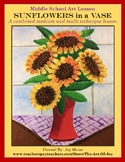 Art Lesson: Sunflowers in a Vase