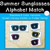 Sunglasses Alphabet Matching Cards