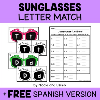 Sunglasses Alphabet Puzzle Literacy Center