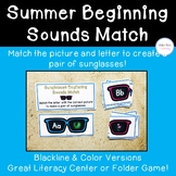 Sunglasses Beginning Sounds Matching Cards