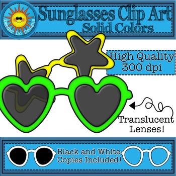 Sunglasses Clip Art- Solid Colors