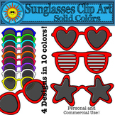 Sunglasses Clip Art- Solid Colors