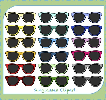 Sunglasses Clipart / Glasses Clipart / Eyewear Clipart