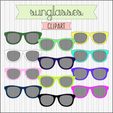 Sunglasses Clipart / Photo Overlays. 30 Colors. High Resol