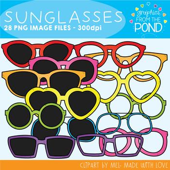 Sunglasses Clipart Set
