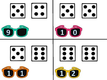 Sunglasses Dice Subitizing