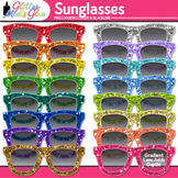 Glitter Sunglasses Clip Art: Summer Graphics {Glitter Meets Glue}