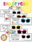 Sunglasses Gift Tag: End of Year *EDITABLE