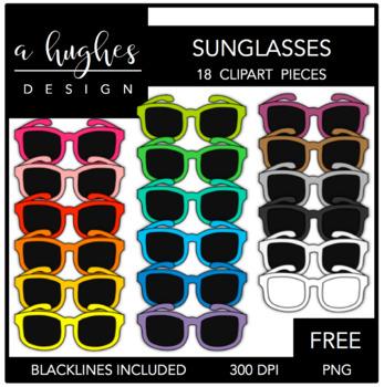 FREE Sunglasses Clipart {A Hughes Design}