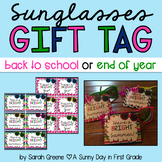 Sunglasses Gift Tag (Back to School OR End of Year!)