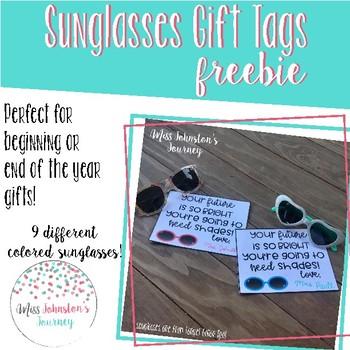 Sunglasses Gift Tags Freebie