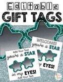 Editable Gift Tags You're a Star in My Eyes Star Sunglasses Tag
