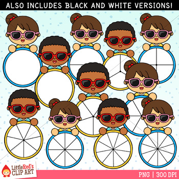 Sunglasses Kids Summer Spinners Clip Art