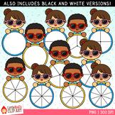 Sunglasses Kids Summer Spinners Clip Art