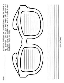 Sunglasses Organizer and Summer Descriptive Writing