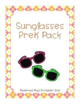 Sunglasses PreK Printable Learning Pack
