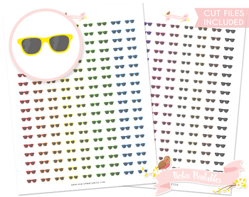 photograph about Printable Sunglasses called Sungles Printable Planner Stickers