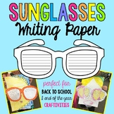 Sunglasses Template for Summer Writing