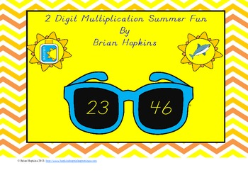 Sunglasses Themed 2 Digit by 2 Digit Multiplication Summer Fun Games!