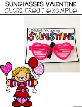 Sunglasses Valentine's Day Tag Freebie