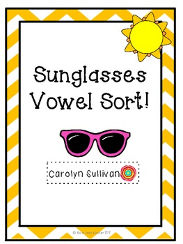 Sunglasses Vowel Sort Freebie