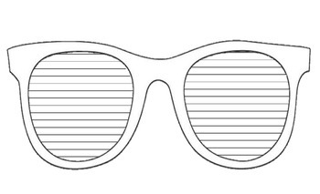 photo relating to Printable Sunglasses called Sungles Producing Template