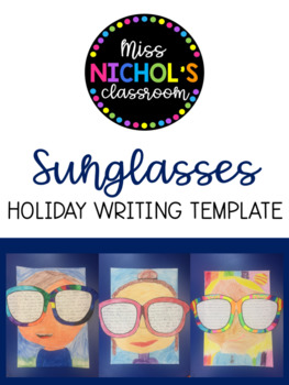 Holiday Writing Sunglasses Template FREEBIE