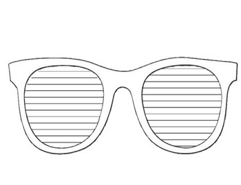 Sunglasses Writing Template (small)