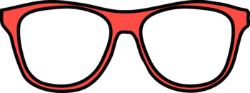 Sunglasses and glasses clipart