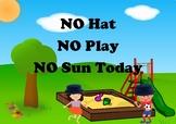 Sunhat Visual Prompt - Sun Safety