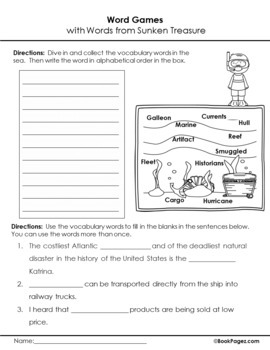 Sunken Treasure Lesson Plans & Activities Package, Fourth Grade (CCSS)