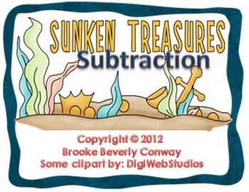 Sunken Treasure Subtraction Task Cards