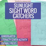 Sunlight Sight Word Catchers Pokey Pinning Literacy Center Activity Kindergarten
