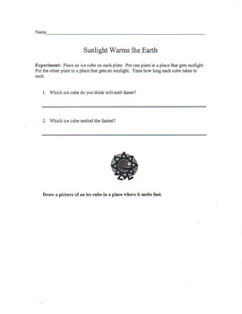 Sunlight Warms the Earth Experiment